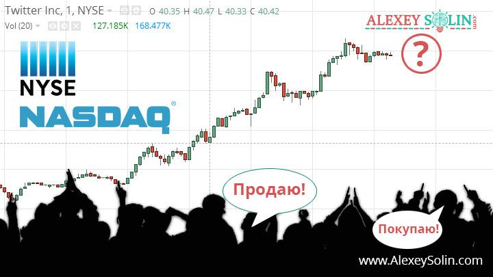 фондовая биржа рынок акций ценные бумаги алексей солин график акции nyse nasdaq